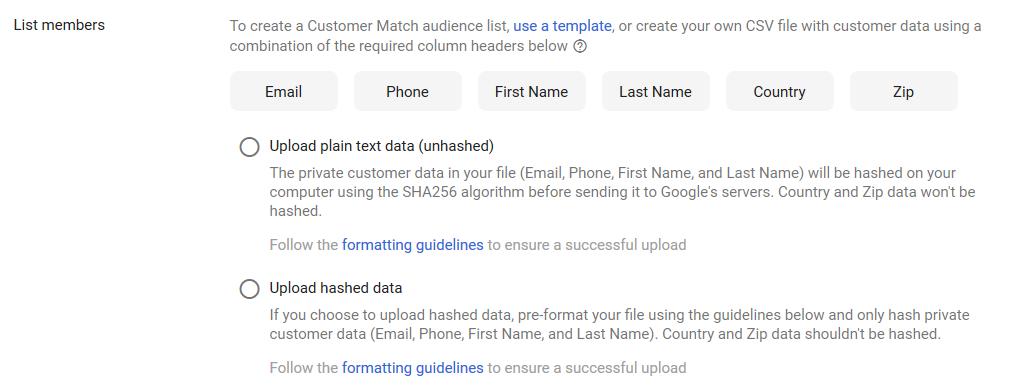 So sieht das neue Interface für das Targeting mit Adressen im Google Ads-Konto aus.