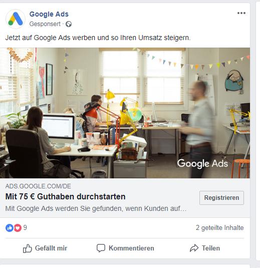 Selbst Google Ads wirbt auf Facebook: Geben Interaktionsmöglichkeiten Facebook den Vorteil bei der Frage, ob du Google Ads oder Facebook Ads einsetzen solltest?