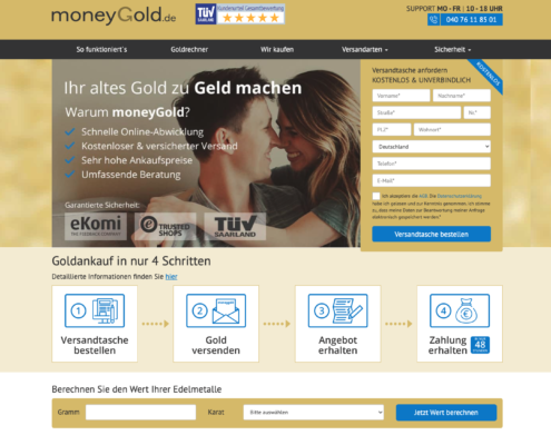 Website Moneygold.de